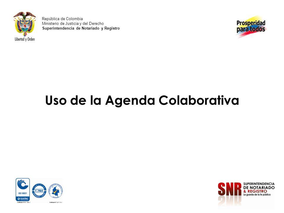 Uso de la Agenda Colaborativa