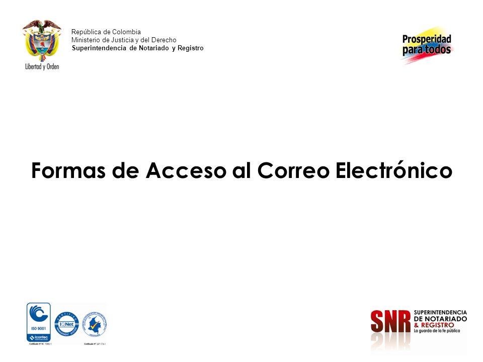 Formas de Acceso al Correo Electrónico