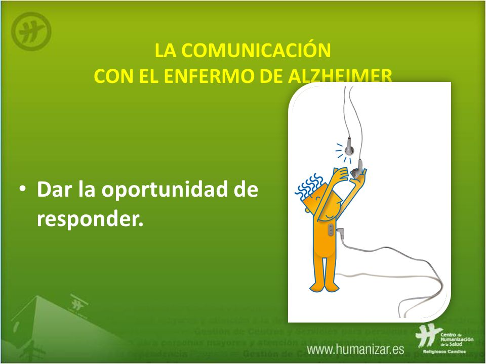 LA COMUNICACIÓN CON EL ENFERMO DE ALZHEIMER