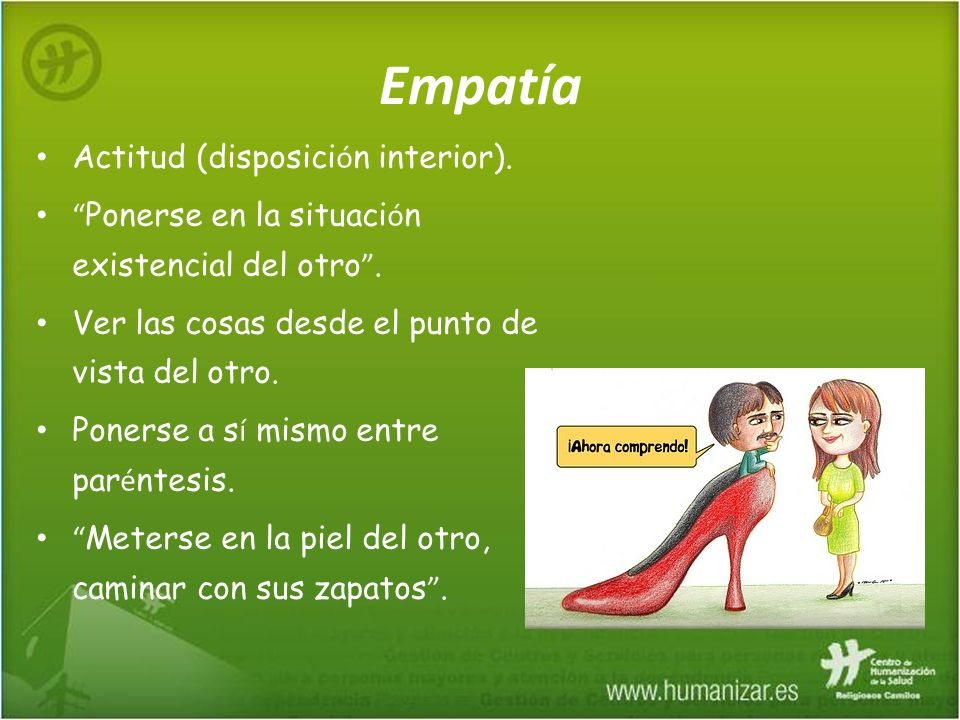 Empatía Actitud (disposición interior).