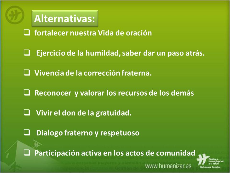 Alternativas: fortalecer nuestra Vida de oración