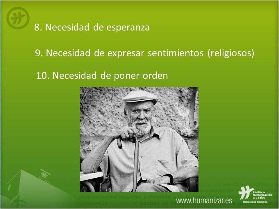8. Necesidad de esperanza