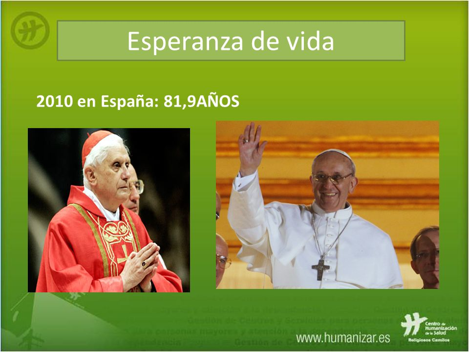 Esperanza de vida 2010 en España: 81,9AÑOS