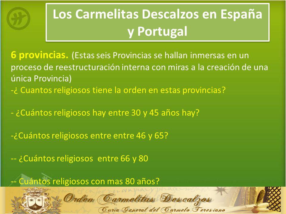 Los Carmelitas Descalzos en España y Portugal