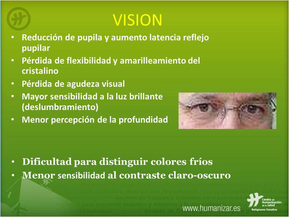 VISION Reducción de pupila y aumento latencia reflejo pupilar