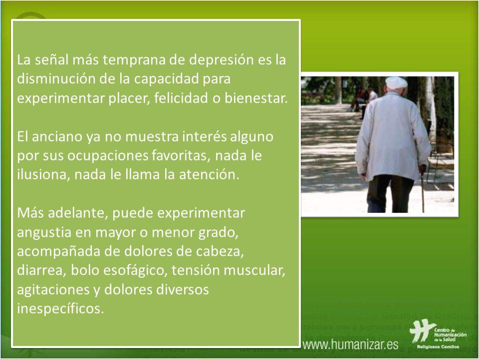 La señal más temprana de depresión es la disminución de la capacidad para experimentar placer, felicidad o bienestar.