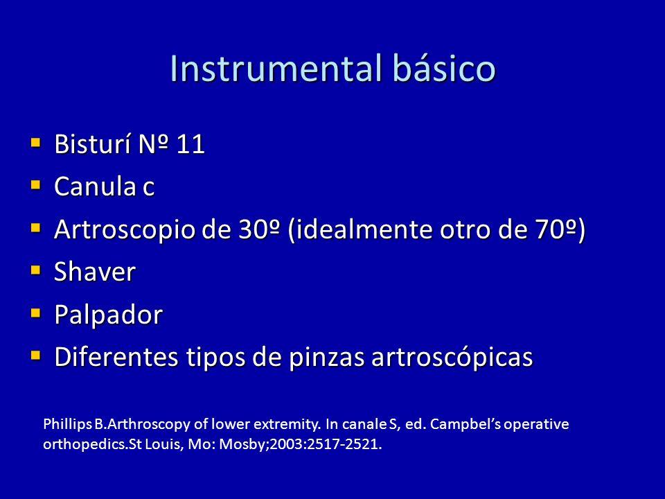 Instrumental básico Bisturí Nº 11 Canula c