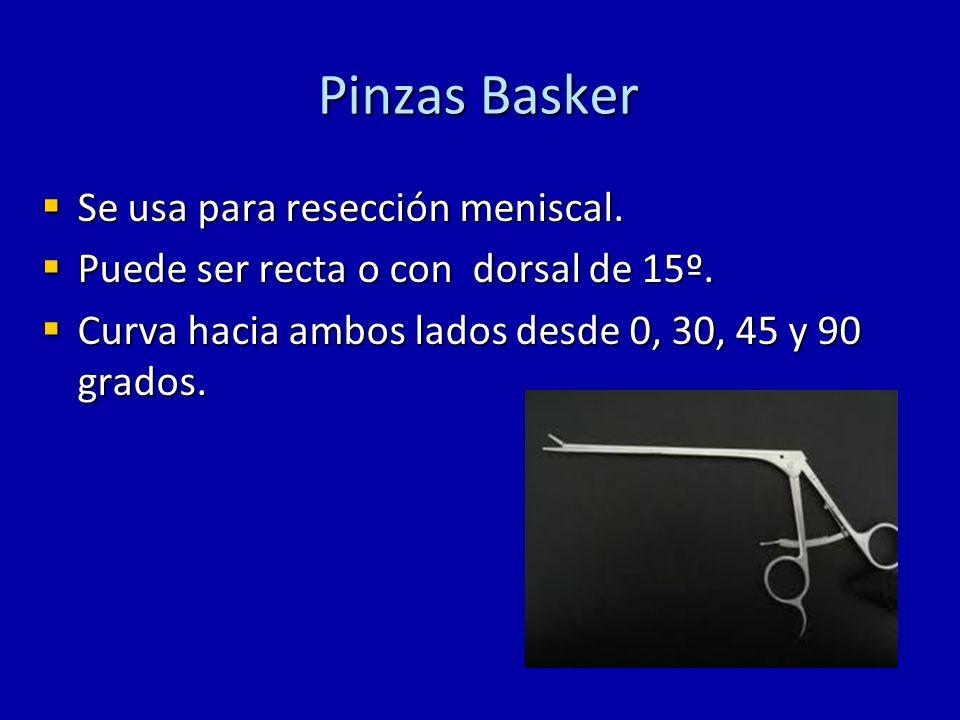 Pinzas Basker Se usa para resección meniscal.