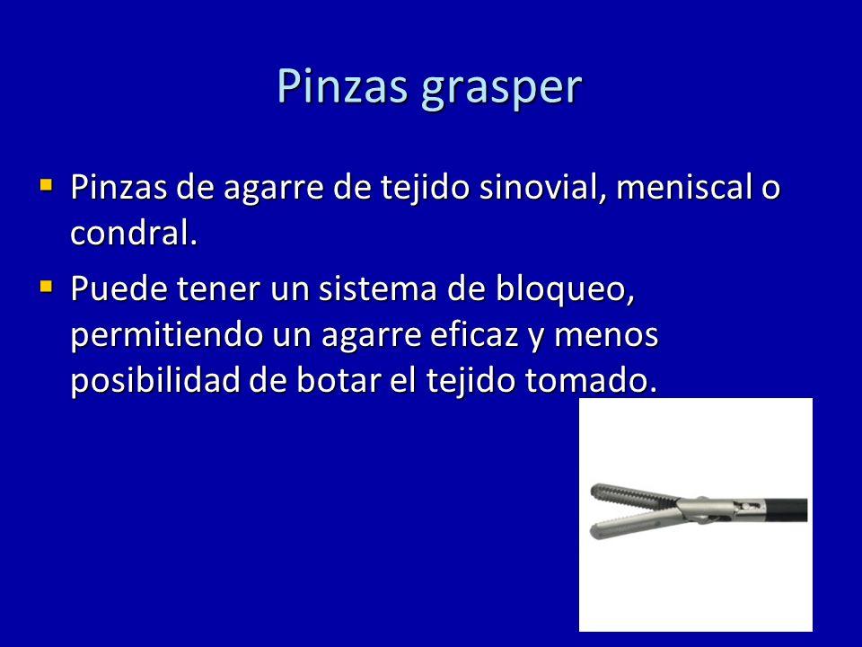 Pinzas grasper Pinzas de agarre de tejido sinovial, meniscal o condral.