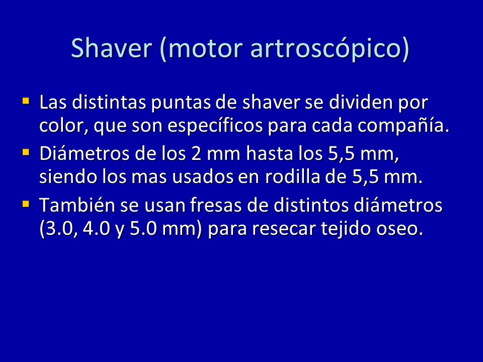 Shaver (motor artroscópico)