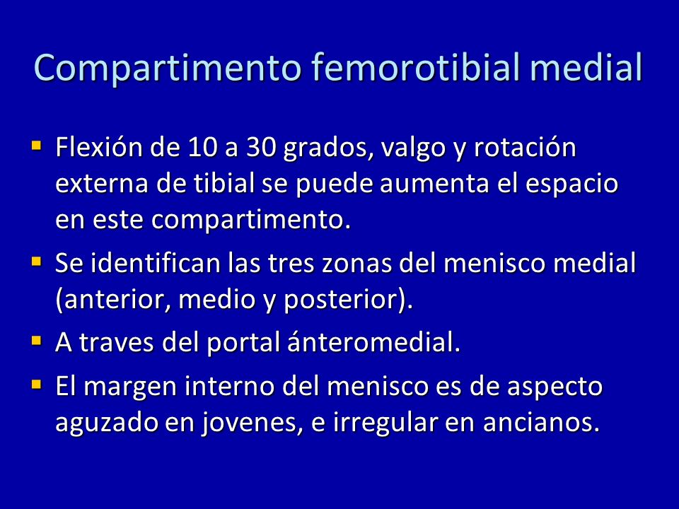Compartimento femorotibial medial