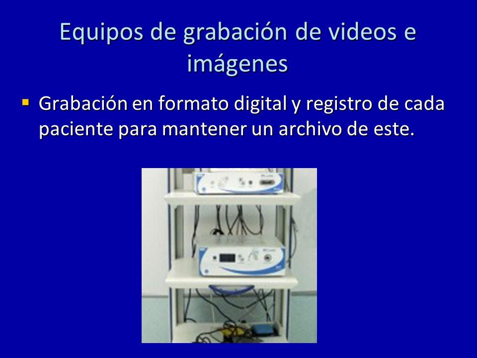Equipos de grabación de videos e imágenes