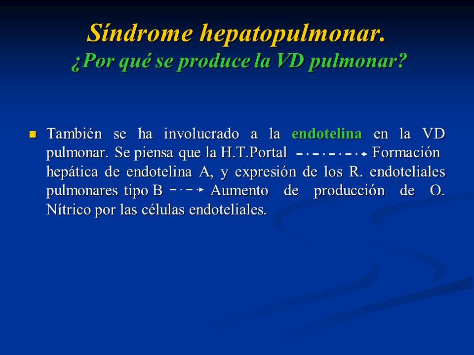 Síndrome hepatopulmonar. ¿Por qué se produce la VD pulmonar