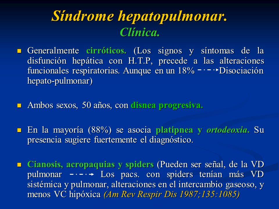 Síndrome hepatopulmonar. Clínica.
