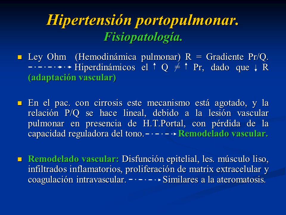 Hipertensión portopulmonar. Fisiopatología.