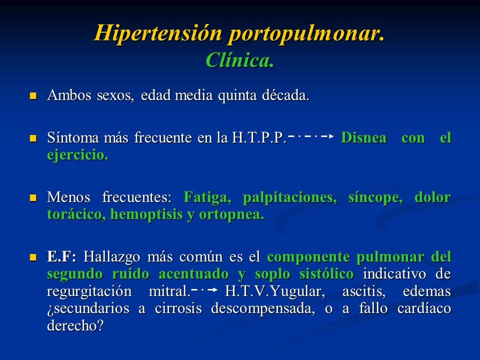 Hipertensión portopulmonar. Clínica.