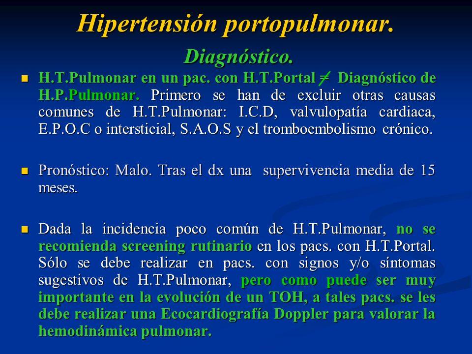 Hipertensión portopulmonar. Diagnóstico.