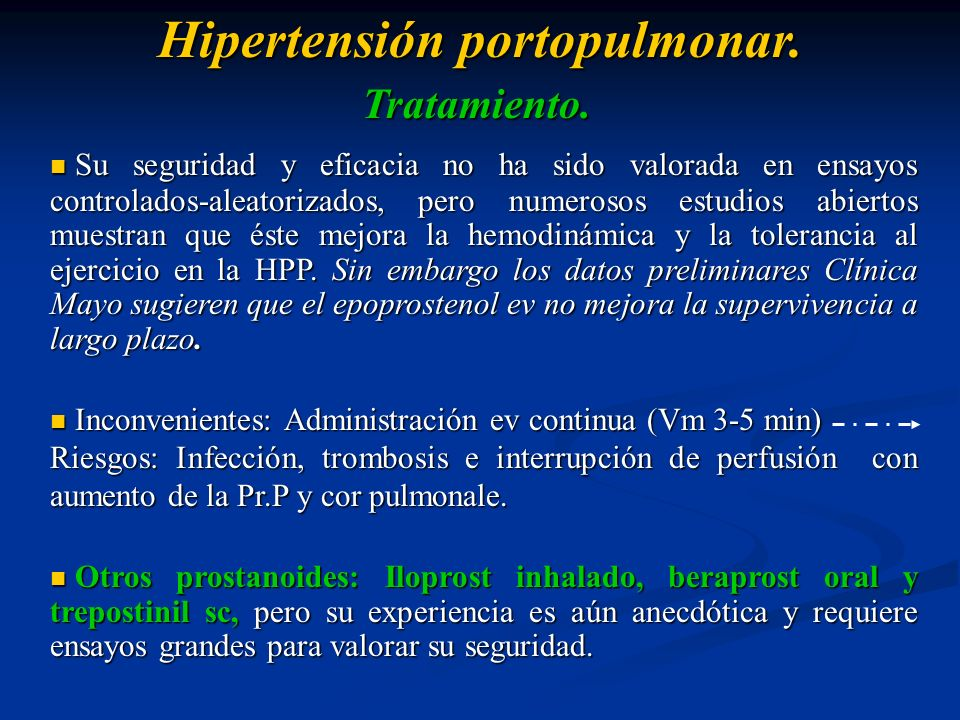 Hipertensión portopulmonar.