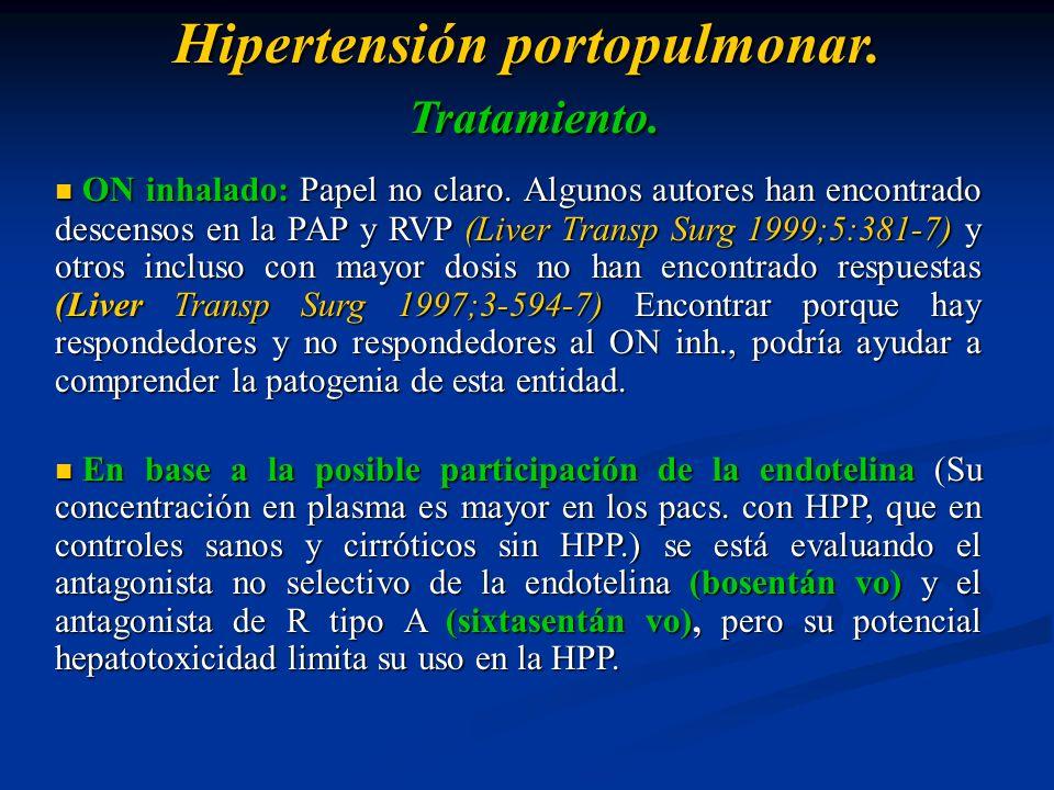 Hipertensión portopulmonar. Tratamiento.