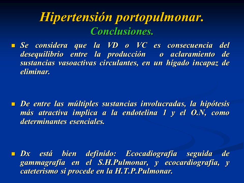 Hipertensión portopulmonar. Conclusiones.