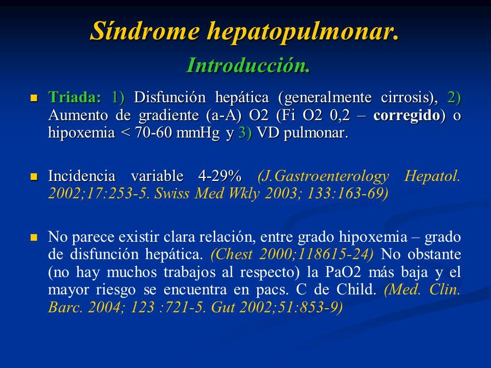 Síndrome hepatopulmonar. Introducción.