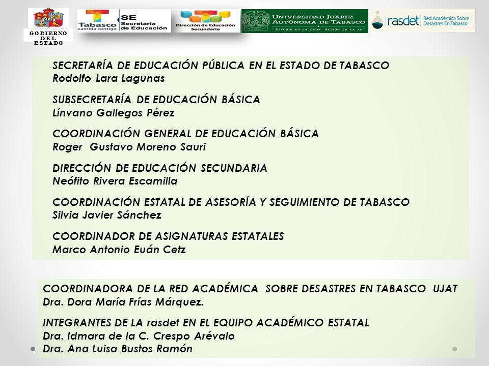 SECRETARÍA DE EDUCACIÓN PÚBLICA EN EL ESTADO DE TABASCO