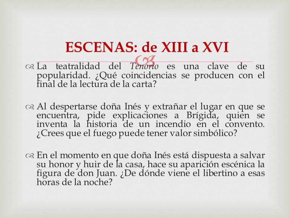 ESCENAS: de XIII a XVI
