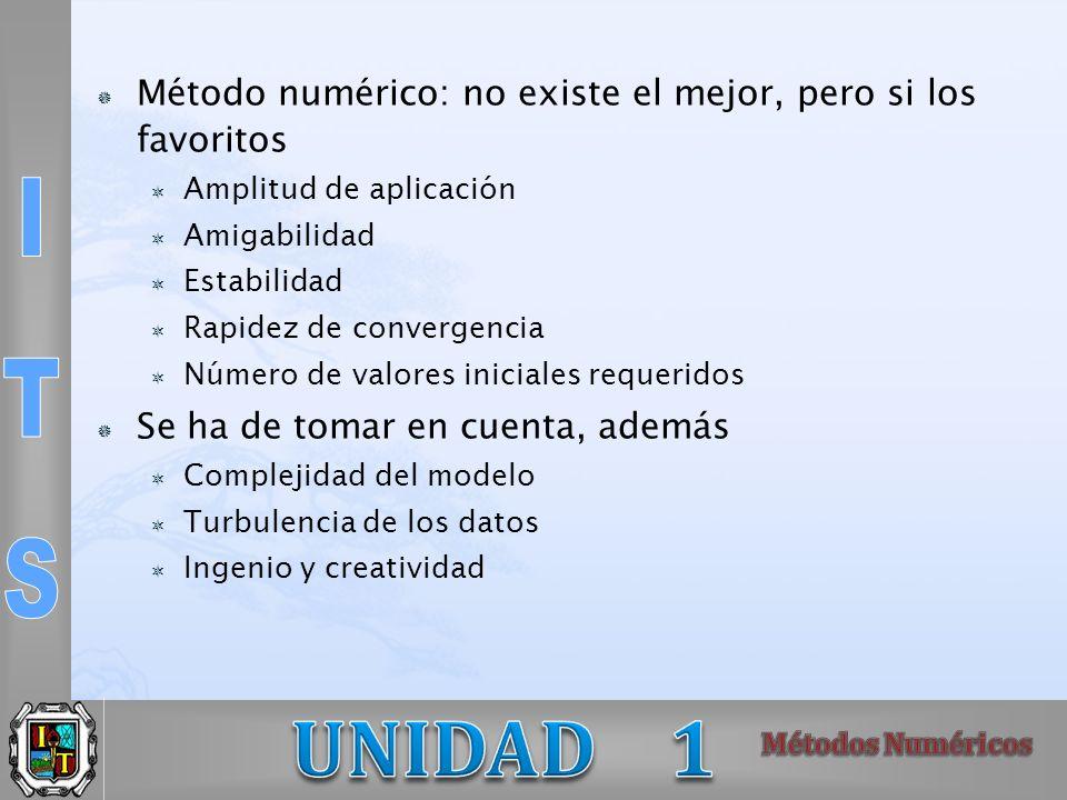 Método numérico: no existe el mejor, pero si los favoritos