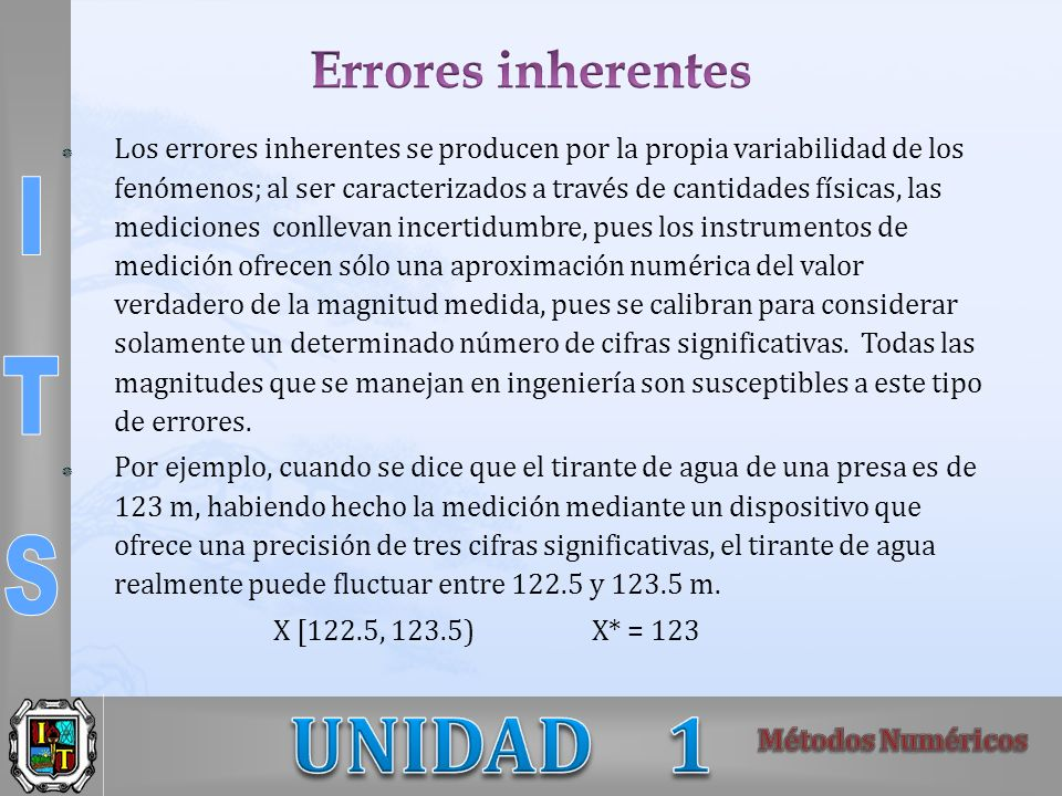 Errores inherentes