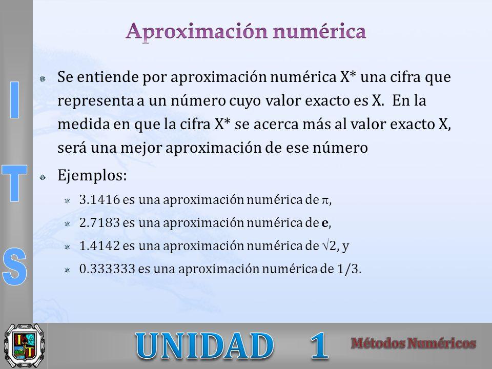 Aproximación numérica