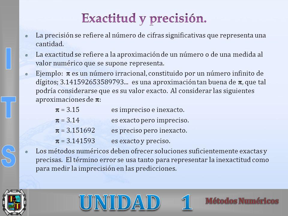 Exactitud y precisión. La precisión se refiere al número de cifras significativas que representa una cantidad.