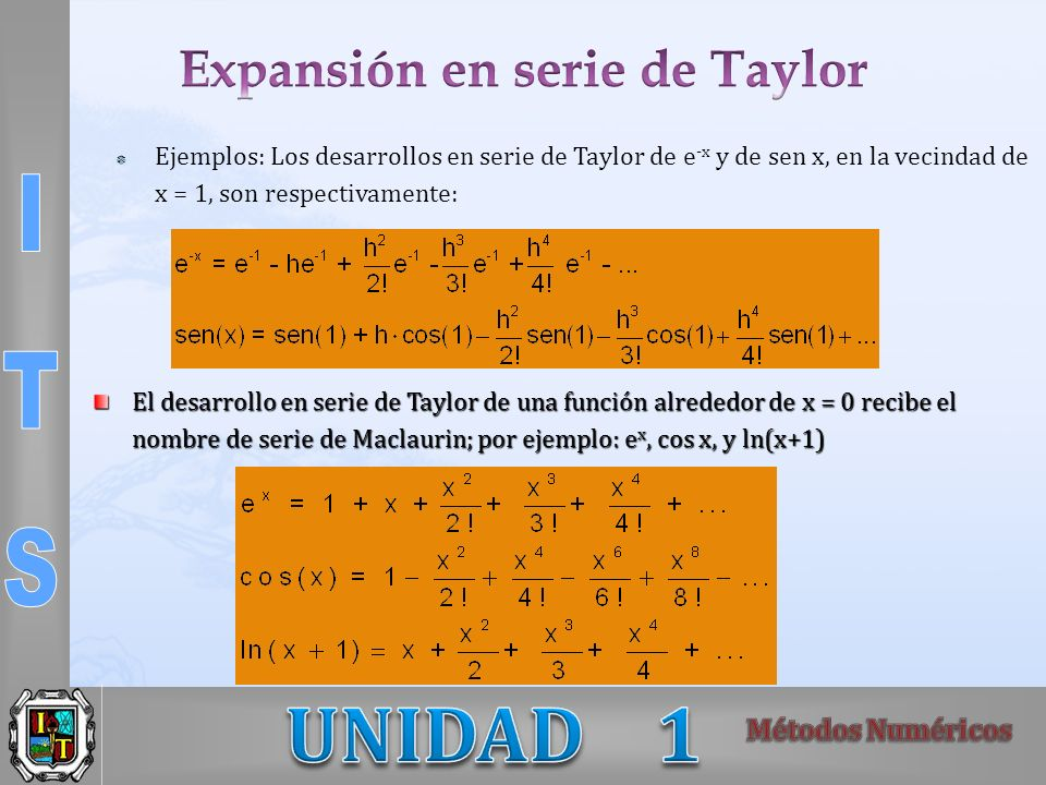 Expansión en serie de Taylor