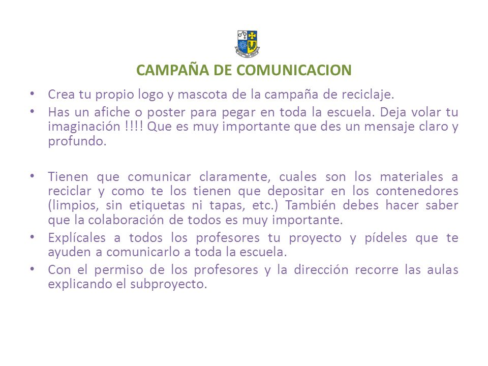 CAMPAÑA DE COMUNICACION