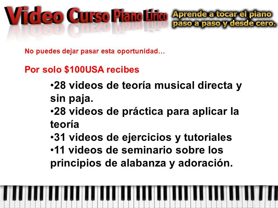 28 videos de teoría musical directa y sin paja.