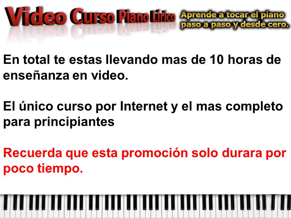En total te estas llevando mas de 10 horas de enseñanza en video.