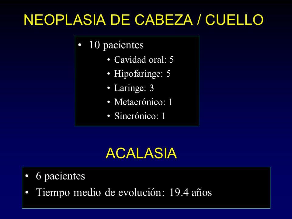 NEOPLASIA DE CABEZA / CUELLO