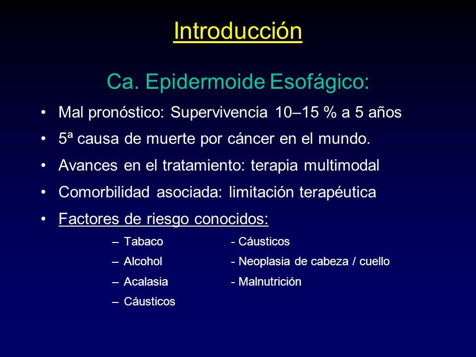 Ca. Epidermoide Esofágico: