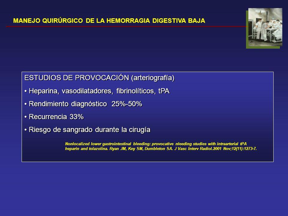 ESTUDIOS DE PROVOCACIÓN (arteriografía)