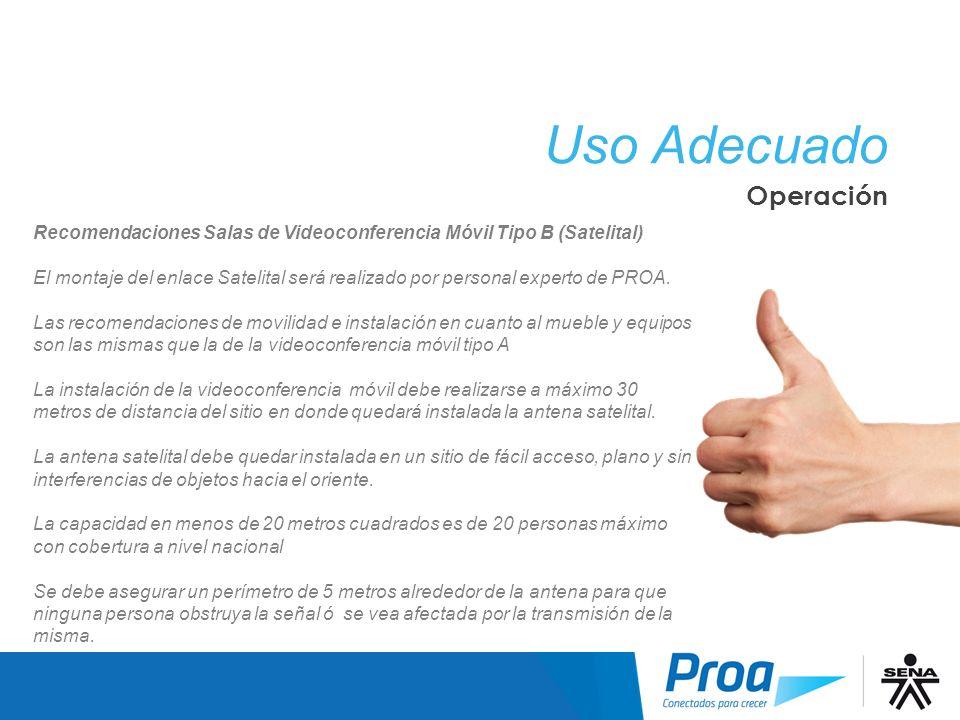 Uso Adecuado: Operación
