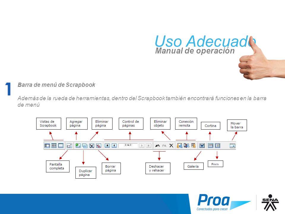 UA: Funciones del Scrapbook