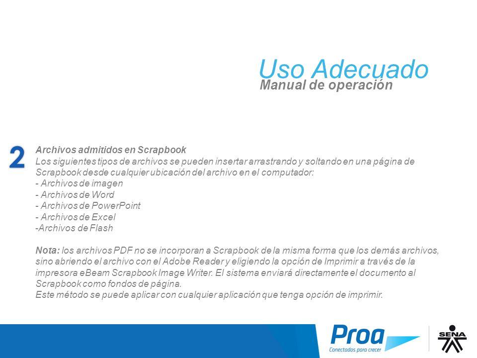 UA: Archivos admitidos en Scrapbook