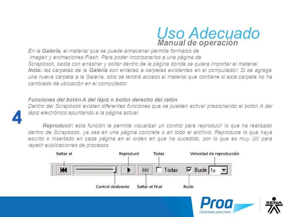 UA: ScrapBook, Reproducir