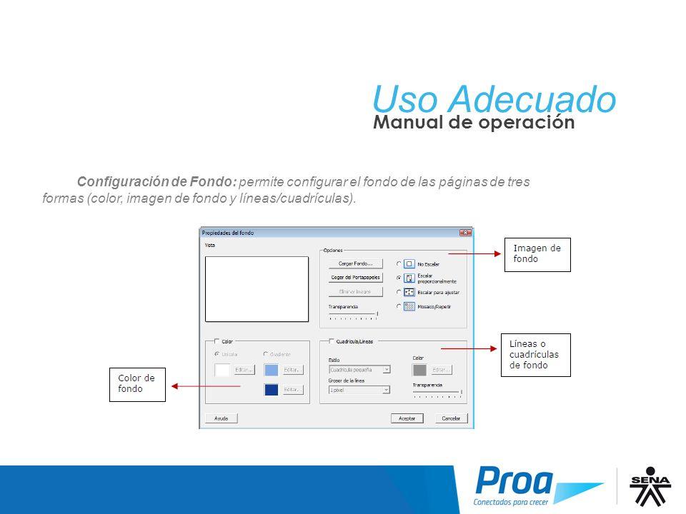 UA: ScrapBook, Config de Fondo