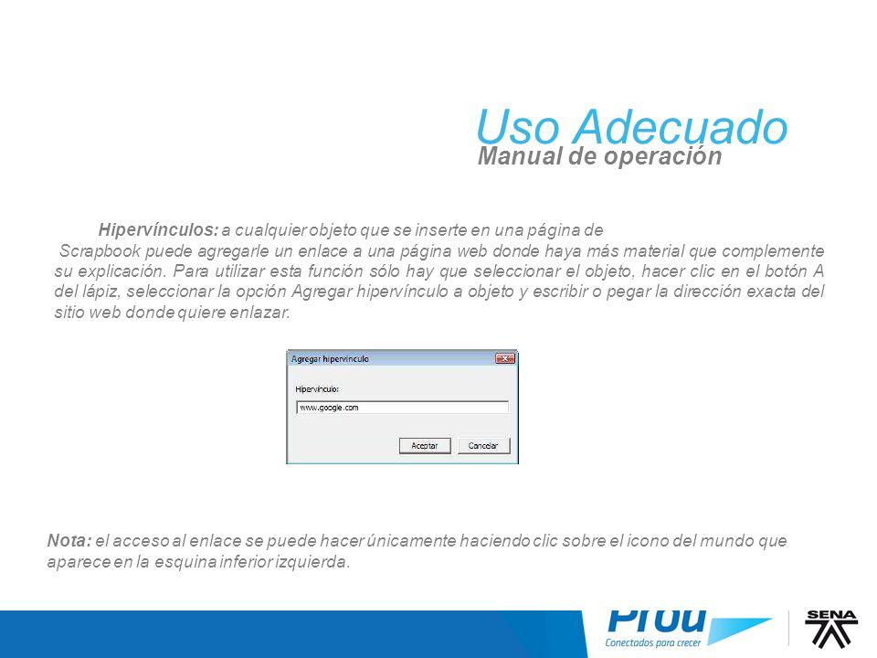 UA: Scrapbook, Hipervínculos