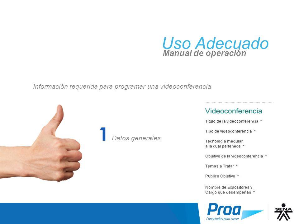 UA: Solicitar una Videoconferencia: Paso 1