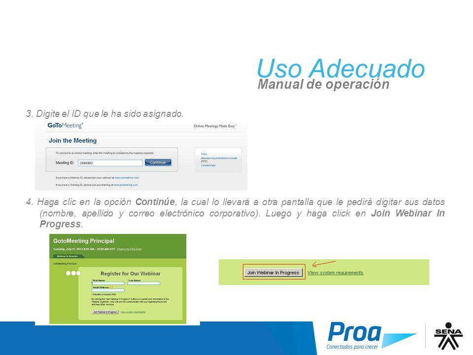 UA: GoToMeeting, Entregable Digital