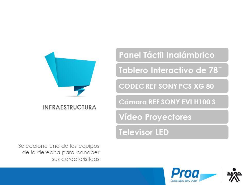 Infraestructura Panel Táctil Inalámbrico Tablero Interactivo de 78¨