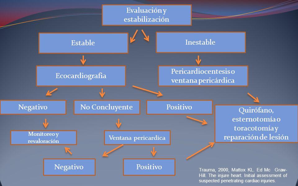 Evaluación y estabilización