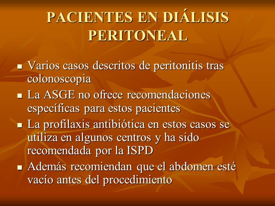 PACIENTES EN DIÁLISIS PERITONEAL