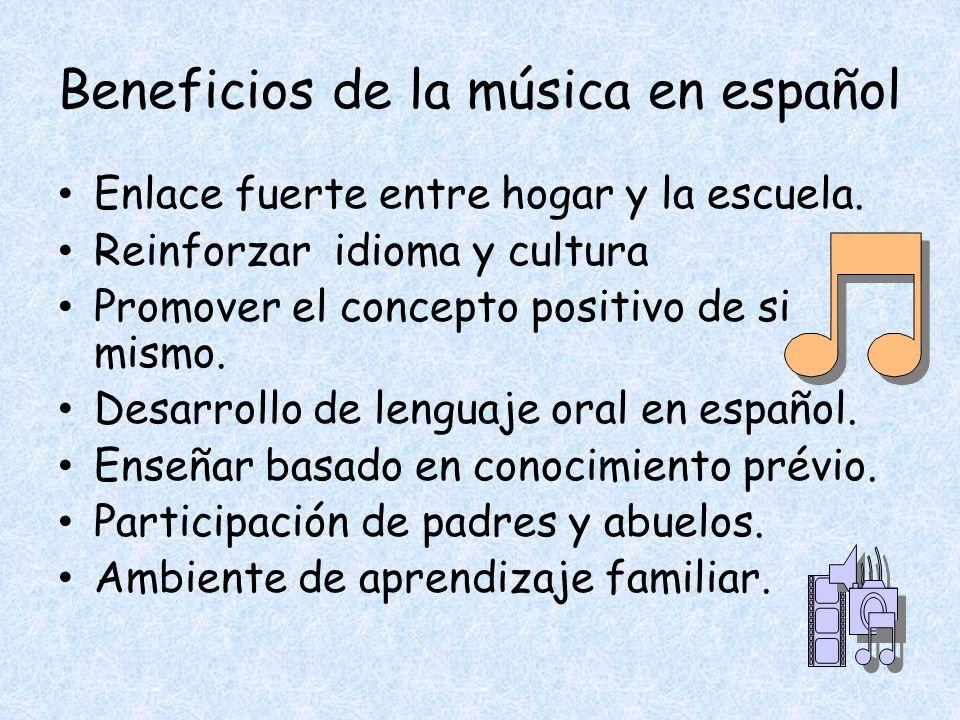 Beneficios de la música en español